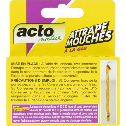 Mouches spirale glue Acto Natur - 4 tubes