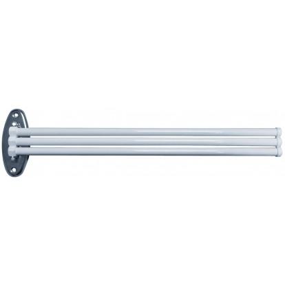 Porte-serviette en acier époxy blanc Godonnier - Mobile - 3 branches