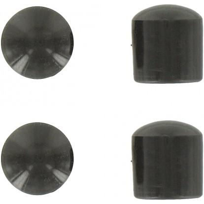 Embout enveloppant plastique noir PVM - Diamètre 18 mm - Vendu par 4