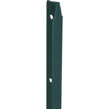 Piquet de clôture simple en T plastifié vert Filiac - Hauteur 2,5 m - Section 30 x 30 mm