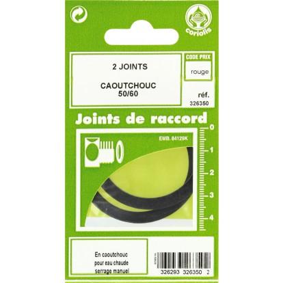 Joint caoutchouc EPDM - Filetage 50 x 60 mm - Vendu par 2