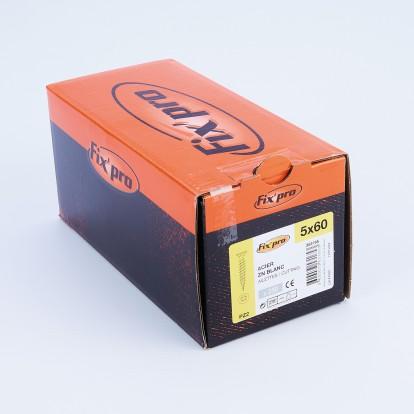 Vis à bois tête fraisée PZ - 5x60 - 250pces - Fixpro