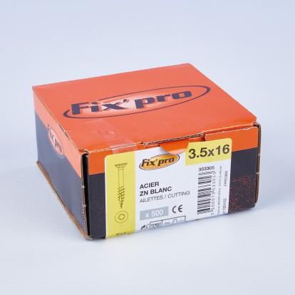 Vis à bois tête fraisée TX - 3,5x16 - 500pces - Fixpro