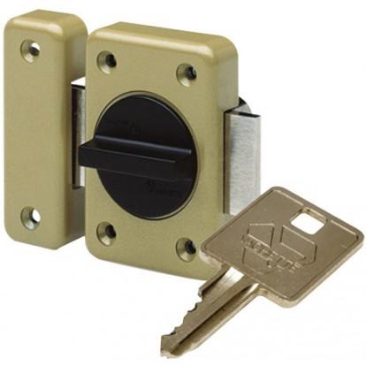 Verrou de sureté bouton et cylindre série RXP Vachette - Longueur 40 mm