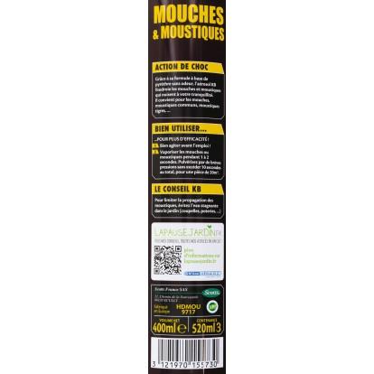 Insecticide mouches & moustiques KB Home Defense - Aérosol 400 ml