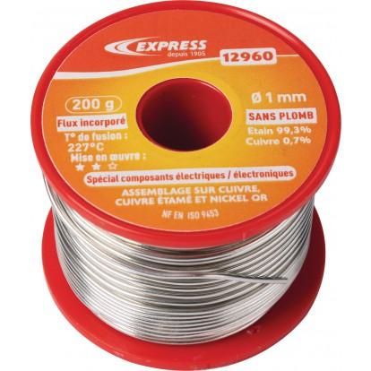 Soudure étain bobine Express - Spécial composants électriques - 200 g