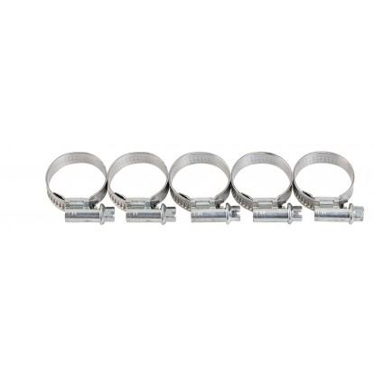 Collier à bande inox W4 Cap Vert - Diamètre 14 - 22 mm - Largeur 13 mm - Vendu par 5