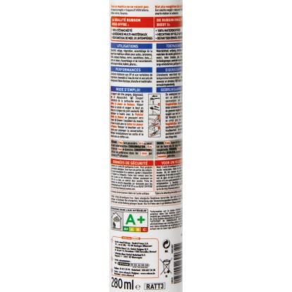 Mastic auto / marine Rubson - Cartouche 280 ml - Transparent