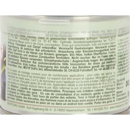 Mastic polyester avec fibre de verre Presto - 250 g