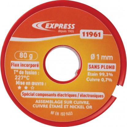Soudure étain bobine Express - Spécial composants électriques - 80 g