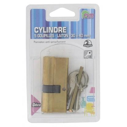 Cylindre asymétrique laiton PVM - Dimensions 30 x 40 mm