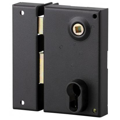 Serrure verticale pour cylindre à fouillot Thirard - Noir - Gauche - Section 7 mm