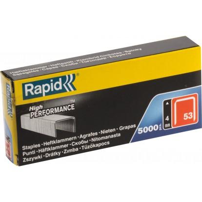 Agrafe n°53 Rapid Agraf - Hauteur 4 mm - 5000 agrafes