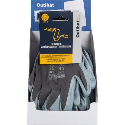 Paire de gants dextérité Outibat - Taille 10 - Vendu par 10