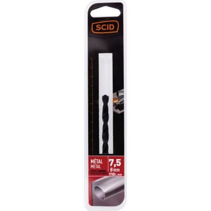 Foret métal HSS laminé SCID - Longueur 110 mm - Diamètre 7,5 mm - Vendu par 1