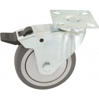 Roulette Uniroll à platine pivotante à frein Guitel point M - Diamètre 75 mm