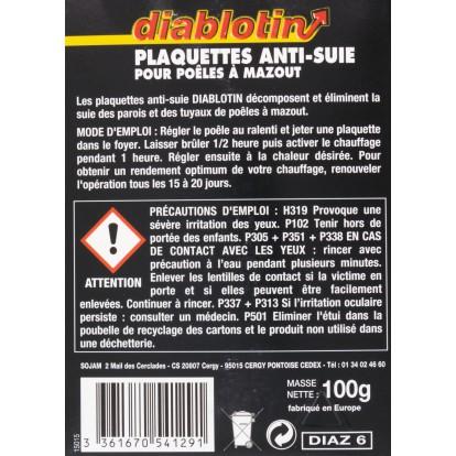 Anti-suie Diablotin - 6 plaquettes