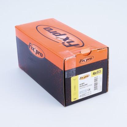 Vis à bois tête fraisée TX - 4x60 - 250pces - Fixpro