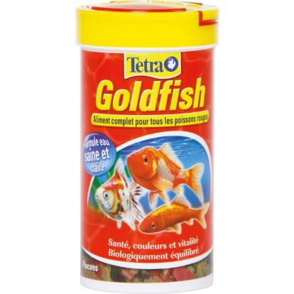 Nourriture poissons rouges Tetra Goldfish - Formule eau saine et claire