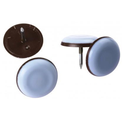 Patin PTFE gris à clouer PVM - Diamètre 25 mm - Vendu par 4