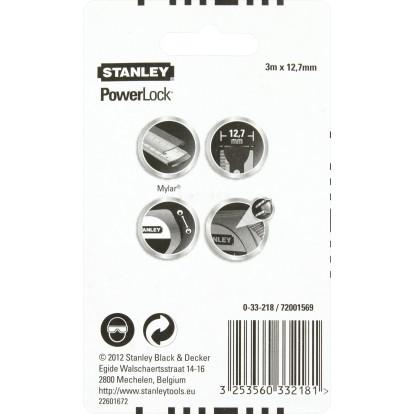 Mesure Powerlock® Stanley - Longueur 3 m - Largeur 12,7 mm
