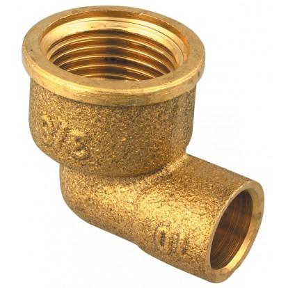 Coude laiton Femelle Raccords - Filetage 15 x 21 mm - Diamètre 12 mm - Vendu par 1