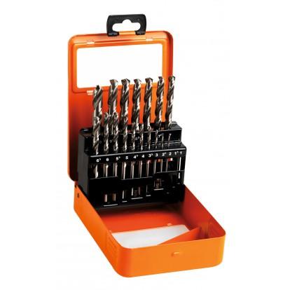 Coffret forets métaux HSS din 338 SCID - 19 pièces - De 1 à 10 mm