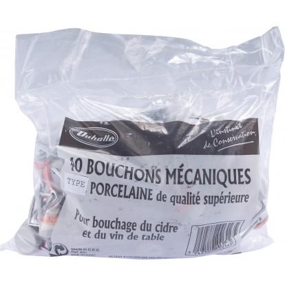 bouchon mecanique plastique colliers duhalle vendu par 40
