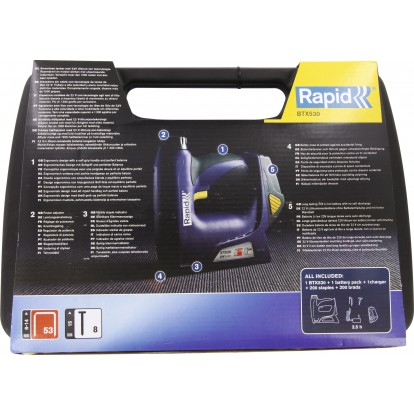 Agrafeuse-cloueuse sans fil Rapid Agraf - BTX530