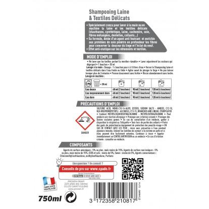 Shampooing laine Spado - Flacon 750 ml