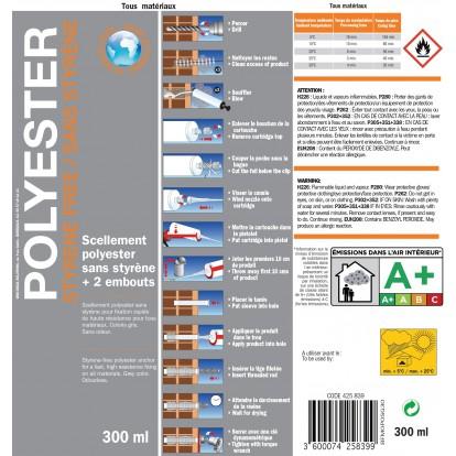 Scellement chimique polyester Fix'Pro - 300 ml - Gris