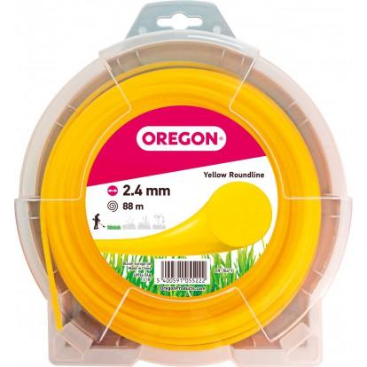 Fil rond pour débroussailleuse Oregon - Longueur 88 m - Diamètre 2,4 mm