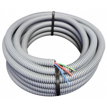 Gaine ICTA préfilée 3 G 1,5 mm², - Longueur 25 m - Diamètre 16 mm