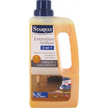 Entretien brillant parquet et sols stratifiés 2 en 1 Starwax - Bidon 1 l