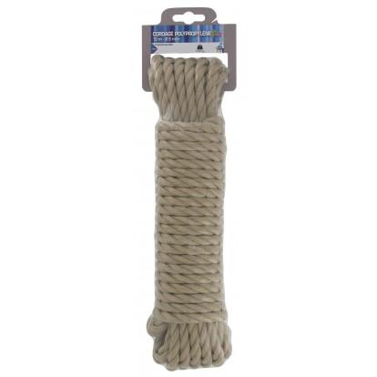 Cordage polypropylène PVM - Longueur 10 m - Diamètre 8 mm