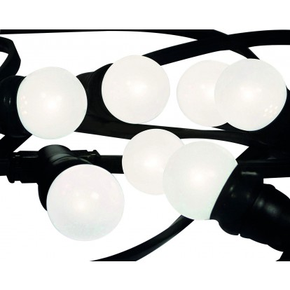Guirlande LED blanches Tibelec - Longueur 10 m - 10 ampoules