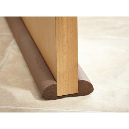 boudin de porte mottez marron longueur 93 cm de bas de porte 1148161 mon magasin g n ral. Black Bedroom Furniture Sets. Home Design Ideas