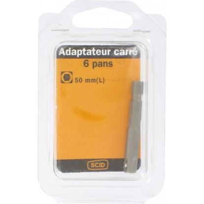 Adaptateur carré 6 pans SCID