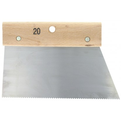 Couteau à colle Outibat - Denture pointure moyenne - 100 g/m² - Dimensions 200 mm