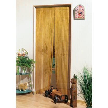 Rideau de porte - Bambou Naturel Morel - 120 x 220 cm
