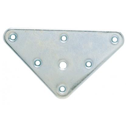 Equerre de fixation métal pied de lit - Longueur 47 mm - Largeur 12 mm