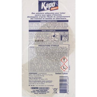 Crochet anti-mites parfumé Kapo - Lavande - Vendu par 2