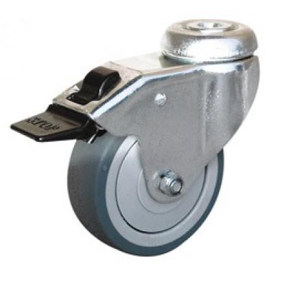 Roulette Uniroll à oeil pivotante à frein Guitel point M - Diamètre 50 mm