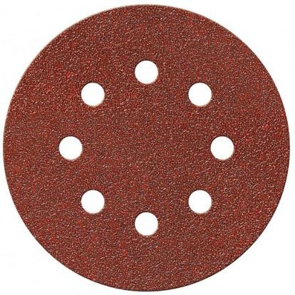 Disque auto-agrippant SCID - 8 trous - Grain 180 - Diamètre 125 mm - Vendu par 5