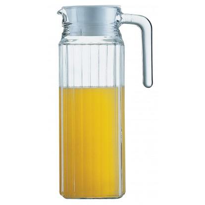 Pichet en verre avec couvercle Quadro Luminarc - 1,1 l