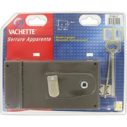 Serrure à clé bénarde horizontale à fouillot 4 gorges série Standing Vachette - Gauche