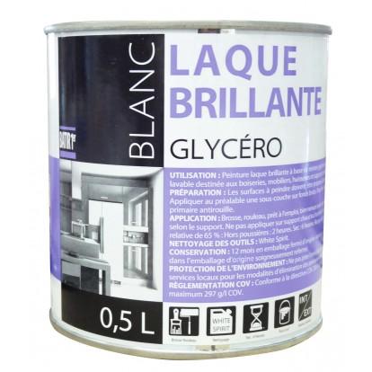 Peinture laque glycéro Batir 1er - Boîte 0,5 l - Brillant - Blanc