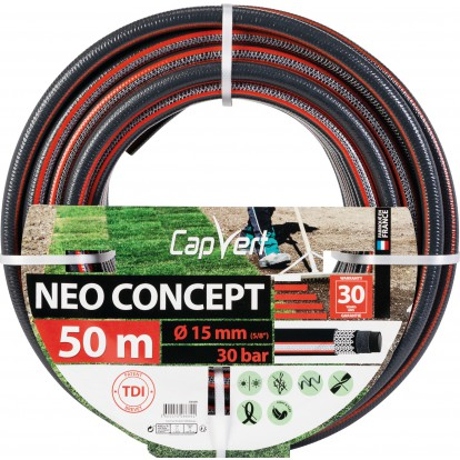 Tuyau d'arrosage Néo Concept Cap Vert - Diamètre 15 mm - Longueur 50 m