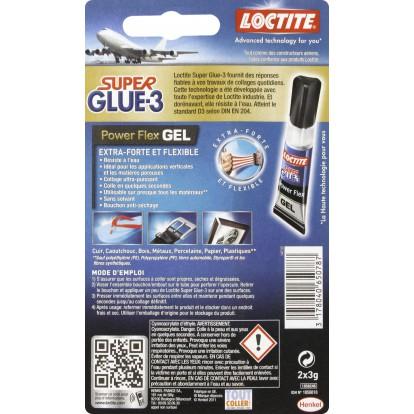 Super Glue 3 Loctite - Gel - Power Flex 2 x 3 g