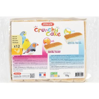Biscuits assortis oiseaux Crunchy Cake miel fruits Zolux - Vendu par 12